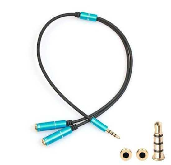 Stereo Aux Telefon Kulaklık Çoklayıcı Çoklayıcı 3.5mm Jack Kablo