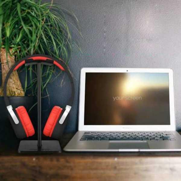 Kulaklık Tutucu Stand Metal Siyah Headset Stand Masaüstü Kullanım