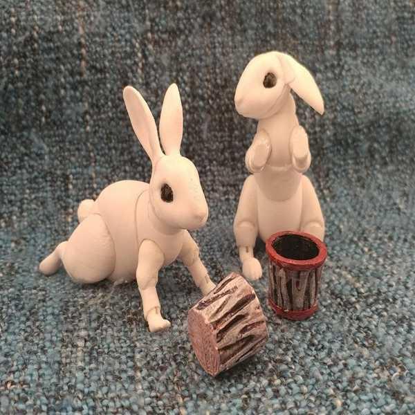 Tavşan Biblo Dekoratif Hediyelik Süs Eşyası Maket Çocuk Oyuncak