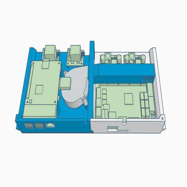 Toptan Ender 3 / Pro Hepsi Bir Arka Kutu Kılıf Skr 1.3 / 1.4 Ve Pi Tutucu İçin Daha İyi Soğutma Plastik Aparat
