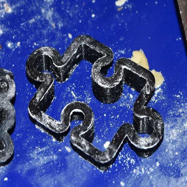 Jigsaw Bulmaca Parçası Kurabiye Kek Kalıbı Kalıp Organik Plastik