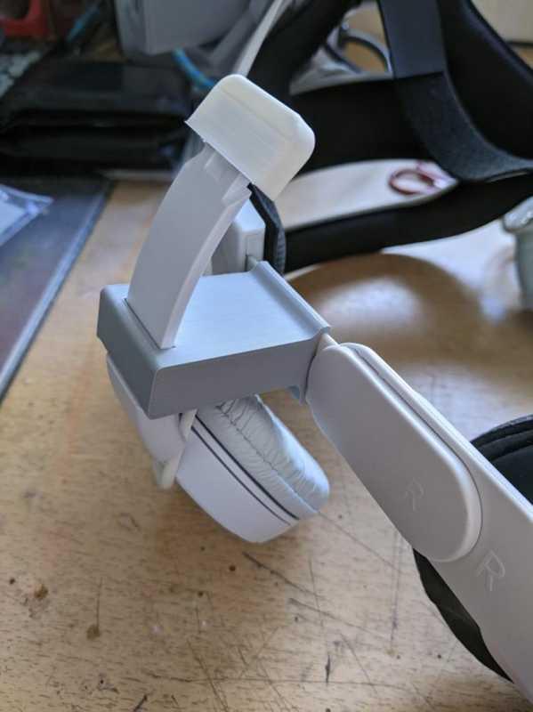 Toptan Oculus Quest 2 Sony Zx110 Ve Aftermarket Elite Benzeri Kayışlar İçin Kulaklık Adaptörü - Daha Büyük Kafalar İçin Plastik Aparat