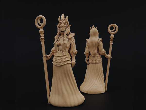 Dokkalf Kraliçesi Biblo Dekoratif Hediyelik Süs Eşyası Maket