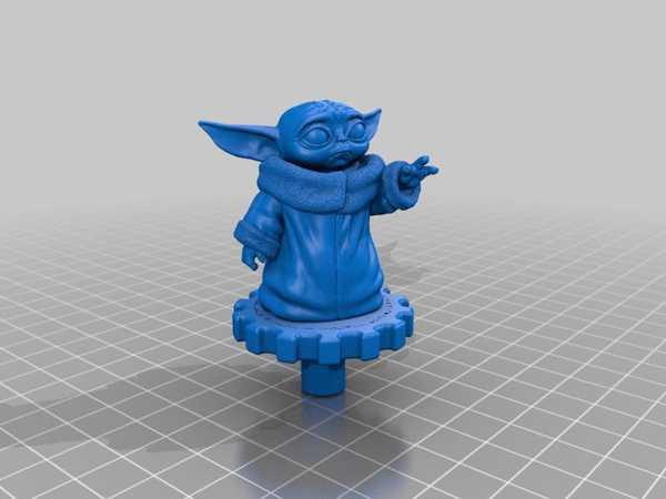 Ender 3 Ekstruder Topuzu - Bebek Yoda Plastik Aparat