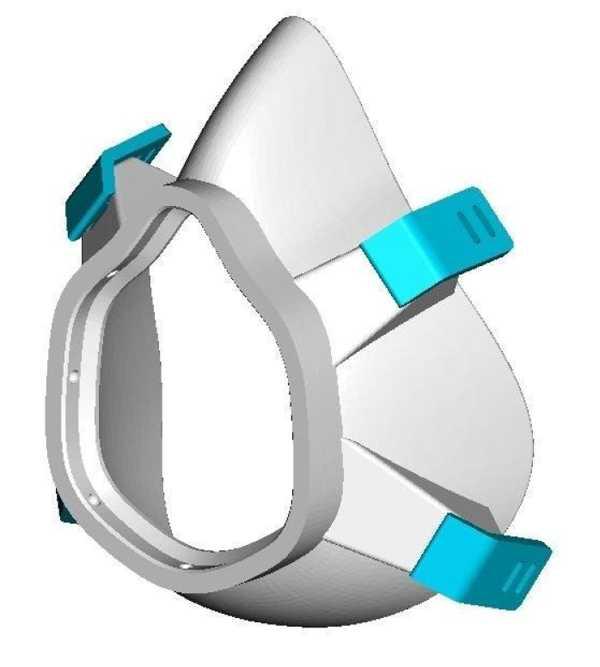 Bolivair Maskesi İçin Geliştirilmiş Elastik Bağlantı Plastik Aparat