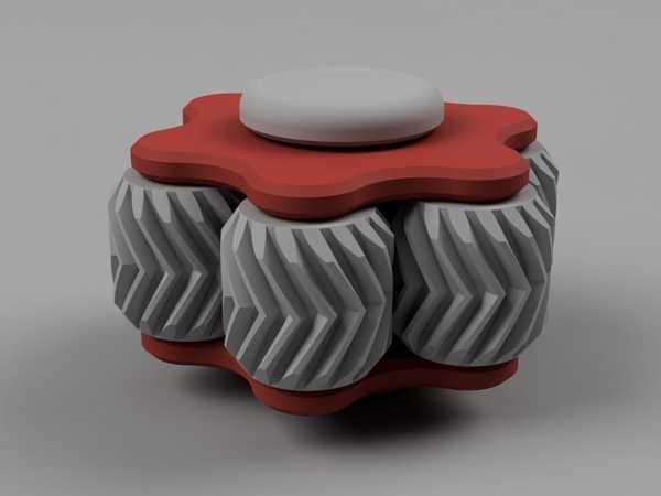 Toptan  Dişli Fidget Oyuncak 05 - Bir Spin İle Düz Altıgen Plastik Aparat