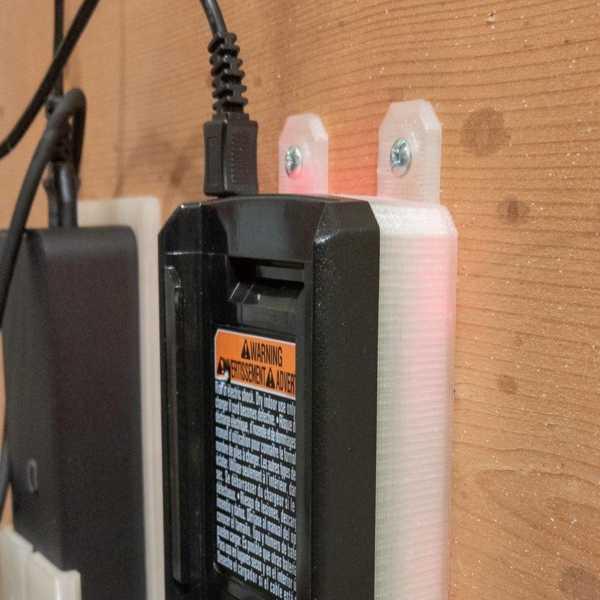 Ryobi 40V Şarj Cihazı İçin Duvar Montajı Plastik Aparat