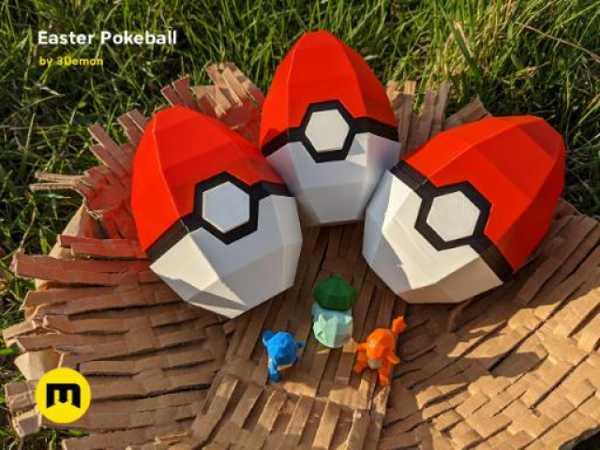 Pokeball Paskalya Yumurta Kutusu Dekorasyon Plastik Aparat