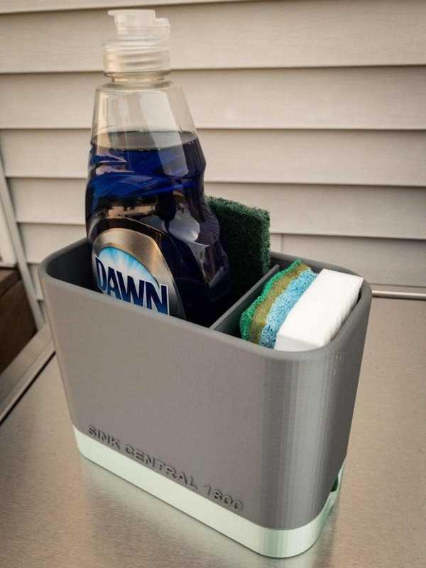 Lavabo Caddy Kendi Kendine Tahliye Ve Ayarlanabilir Bölücü Plastik Aparat