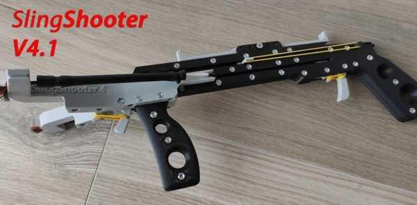 Slingshooter V4.1 - 8Mm Çelik Topları İçin Sapan Silahı Yinelenen Plastik Aparat