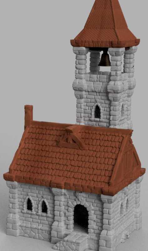 Ulvheim Tower House - Çan Kulesi Bölümü Plastik Aparat