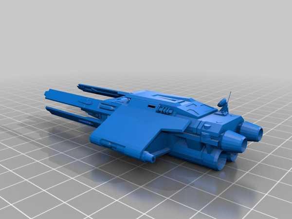 Star Wars Galaxies Vigo Gunship Plastik Aparat