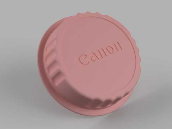 Canon Arka Lens Kapağı Plastik Aparat