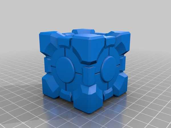 Companion Cube (Portal) Plastik Aparat