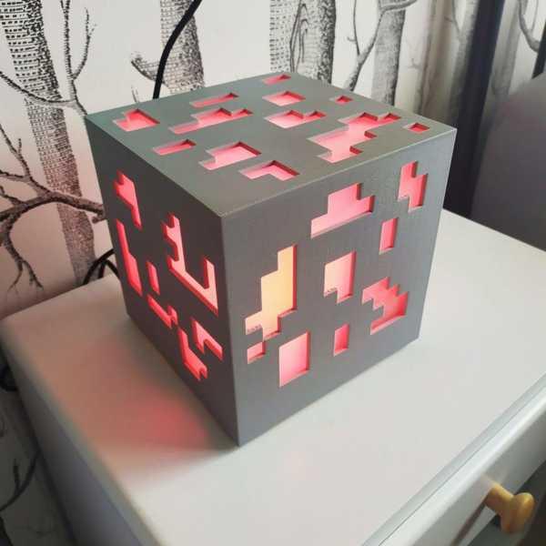 Özelleştirilebilir Minecraft Cevheri Lambası Plastik Aparat