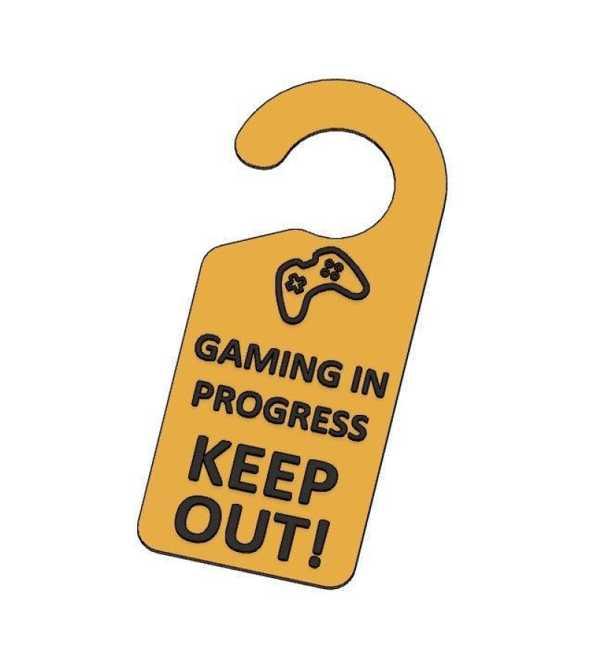 Kapı Etiketi Gaming Devam Ediyor Plastik Aparat