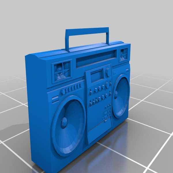 80 Lerin Retro Stereo Gettoblaster Plastik Aparat