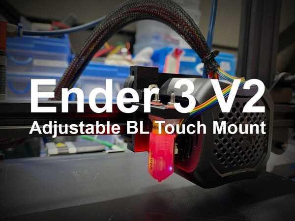Ender 3 V2 Ayarlanabilir Bltouch Tutucu Plastik Aparat