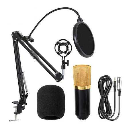 Toptan M700 Stüdyo Kayıt Youtuber Mikrofonu Seti  Stand  Pop Filtre