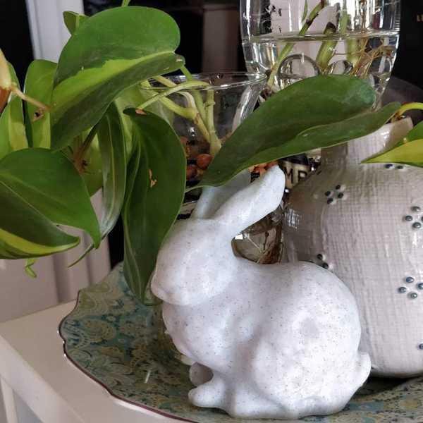 Stanford Bunny Tavşan Heykeli Biblosu Dekoru Süsü Hediyelik