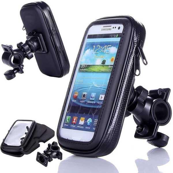 Motor Telefon Tutucu Motosiklet Su Geçirmez Fermuarlı Tutacağı