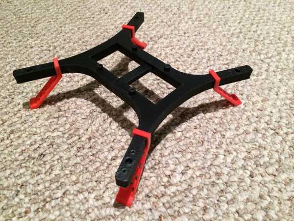 H-quad mikro quadcopter iniş takımı  Organik Plastikten