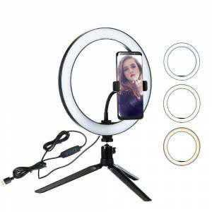 Makyaj Çekim Ring Light Selfie Işık tripod ışık 16CM Stand