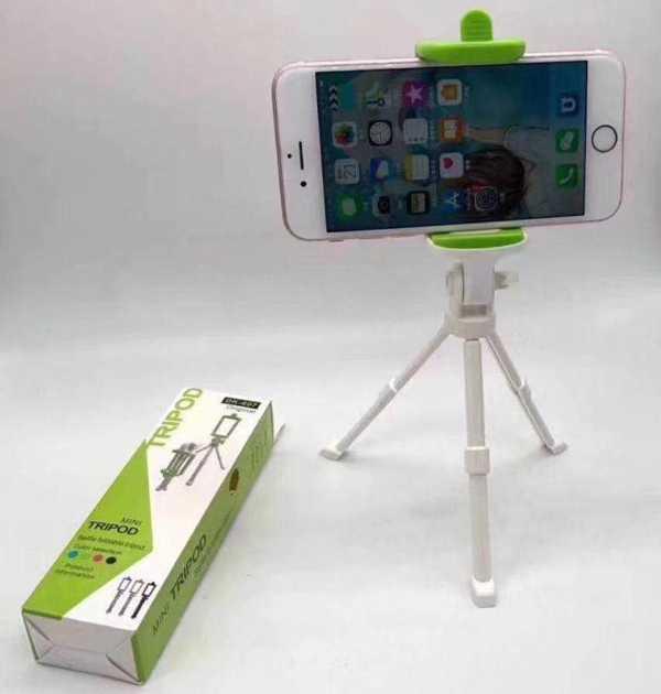 Mini Tripot Fotoğraf Video Çekim Telefon Tutuculu 20 CM