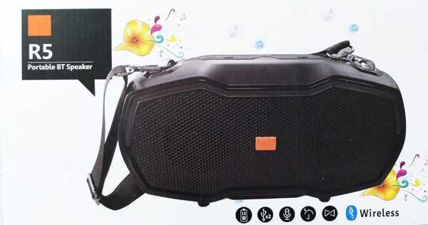 Bluetooth R5 Hoparlör Taşıma İpli  Radyo Müzik Yüksek Ses Kalite