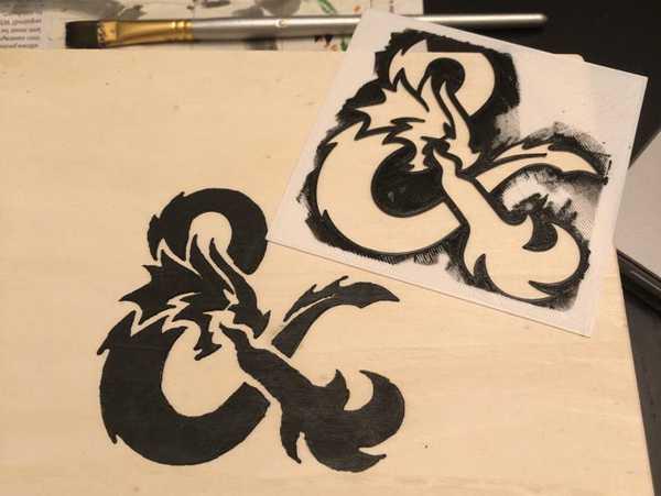 Sprey boya için D&D Logo Stencil Kalıp Dekoratif Aksesuar Aparat