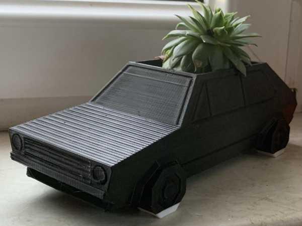 Toptan Volkswagen Golf GTI - Düşük Poli Ekici Dekoratif Saksı Aksesuar