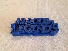 League of Legends - Logo Rozeti Hediyelik Süs Eşyası Aksesuar