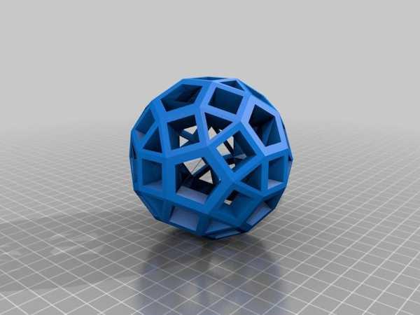 Rhombicosidodecahedron Plastik Aparat
