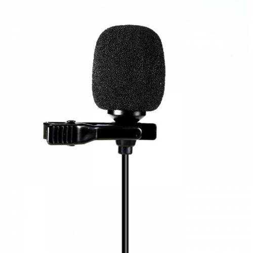 Profesyonel Lavalier Klipsli Yaka Mikrofonu Stereo 3.5mm Telefon
