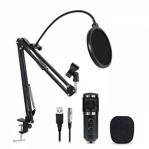 M800U Profesyonel Youtuber Kondenser Mikrofon Set Stand Usb Aux