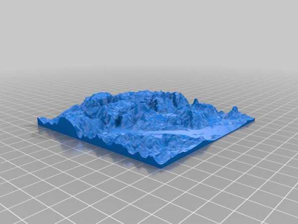 Yükseklik Haritası - Stl - Salzburg, Avusturya Plastik Aparat
