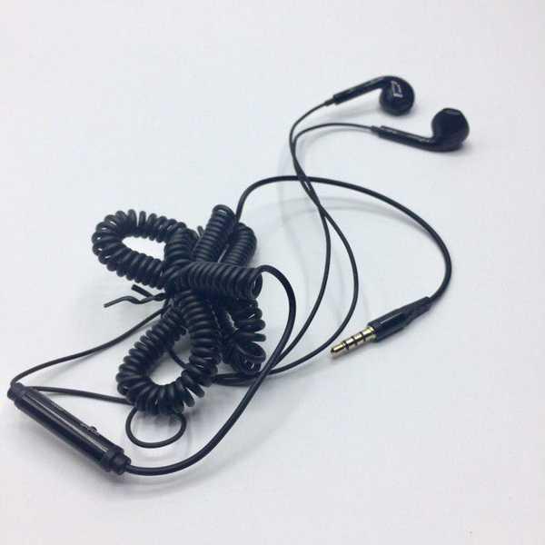 Spiral Kablolu Mikrofonlu Kulak İçi Aux Girişli Telefon Kulaklığı