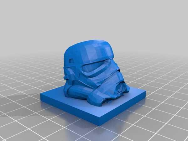 Stormtrooper Kafa Biblo Dekoratif Hediyelik Süs Eşyası Maket