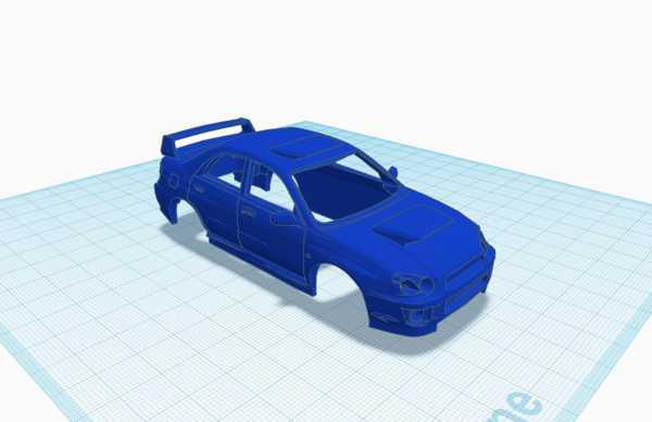 Dr! Ft 1:43 Subaru Impreza Wrx Plastik Aparat