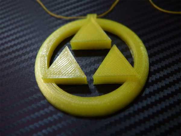 Triforce Madalyası - Zelda Ocarina Of Time  Organik Plastikten