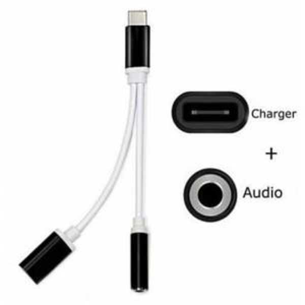 Type-C To 3.5Mm Headset Converter Aux Headset + Charger Converter