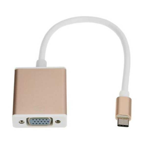 TYPE C USB 3.1 TO VGA Çevirici Dönüştürücü Projeksiyon Kablosu