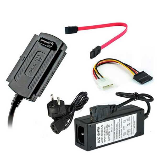 USB 2.0 to SATA Kablosu 2.5 3.5 inch Harici Harddsik Veri Aktarım