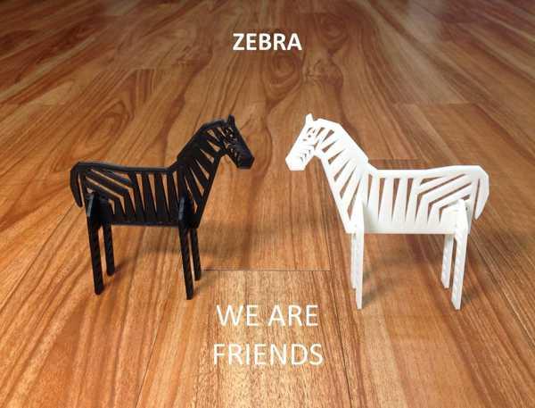 Zebra  Biblo Dekoratif Hediyelik Süs Eşyası Maket Eğitici Oyuncak